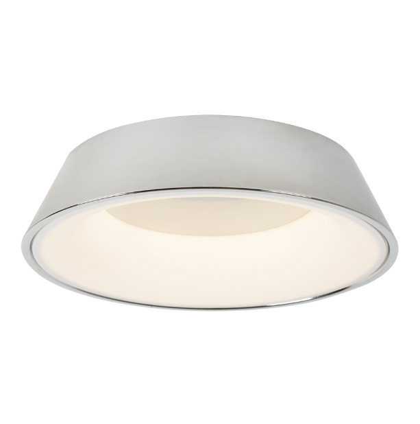 RONDO LED CHROME OR ROSE GOLD CEILING LIGHT - Lighting.co.za