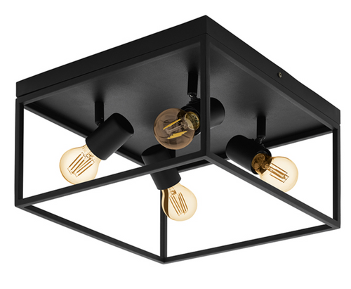 SILENTINA 4L BLACK CEILING LIGHT - Lighting.co.za