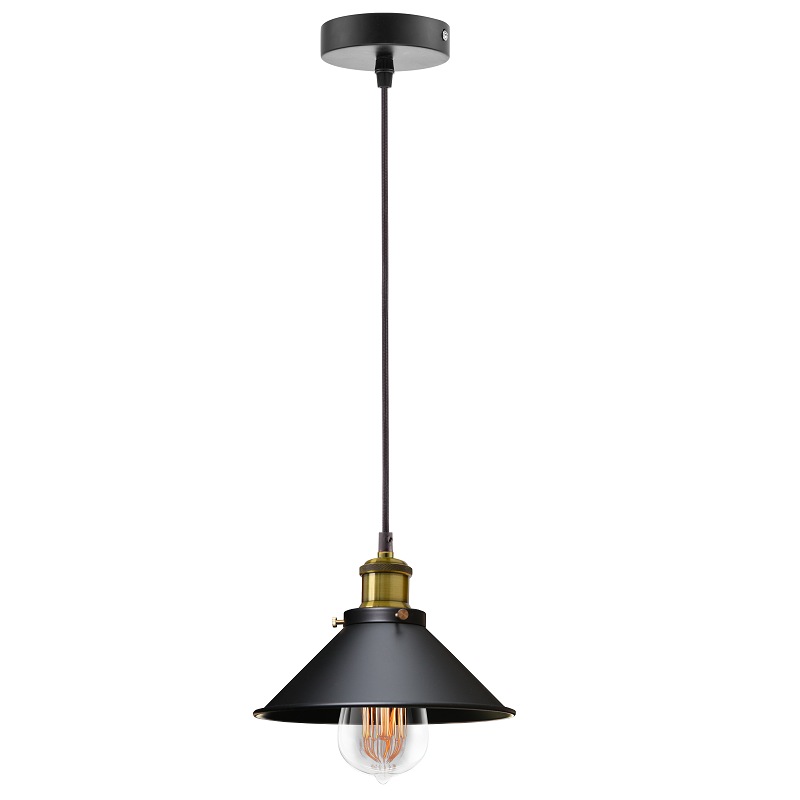 Hinkley Trio Tall 1 Light Black And Brass Industrial Pendant Light - Lighting.co.za