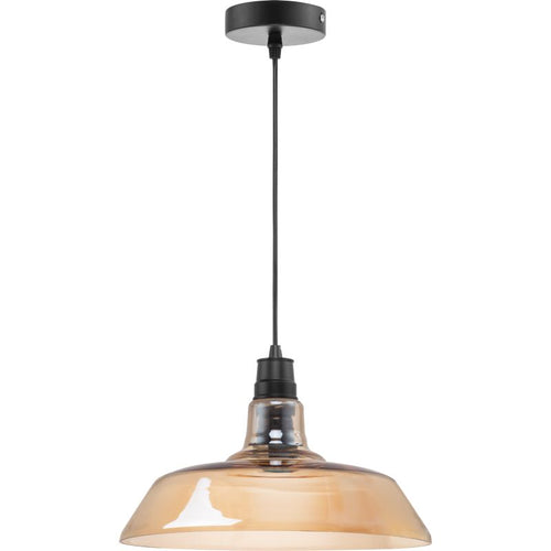 Barn Industrial Clear | Amber | Smoke Glass Pendant Light - Lighting.co.za