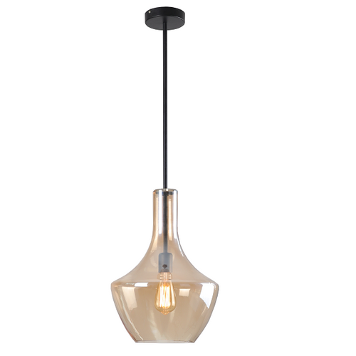 Contour Medium Clear | Smoke | Amber Glass Pendant Light - Lighting.co.za