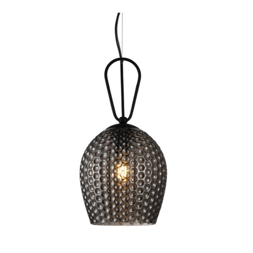 Cedar Clear | Amber | Smoke Textured Glass Pendant Light - Lighting.co.za