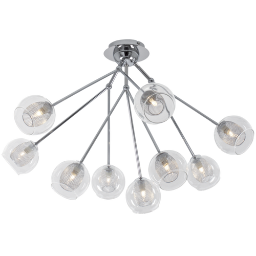Bella Chrome And Glass 9 Light Ceiling Light - Lighting.co.za