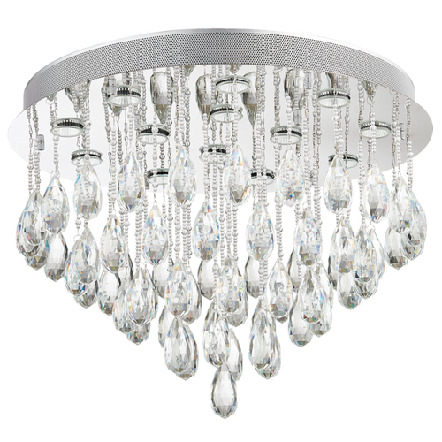Brigitte Chrome And Crystal Ceiling Light - Lighting.co.za