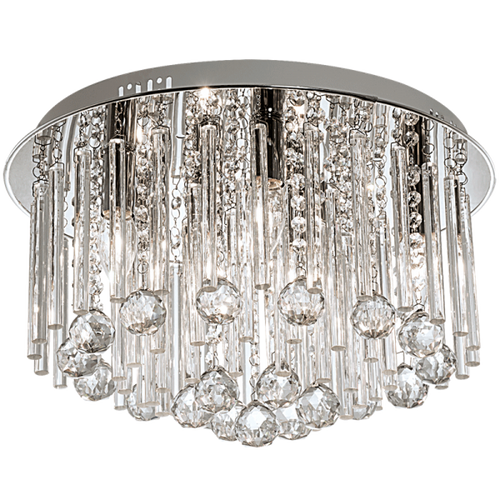 Arena Chrome And Crystal Glass Ceiling Light - Lighting.co.za