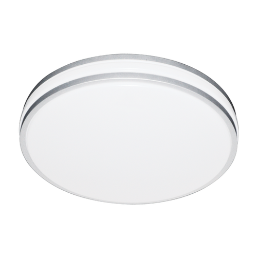 Glo LED White And Silver Bathroom Ceiling Light 2 Sizes - Lighting.co.za