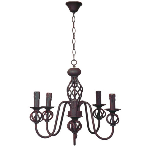 Rustic Wrought Iron 5 | 8 Light Chandelier - Lighting.co.za