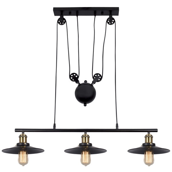 Hinkley Barn Height Adjustable Black And Brass Pendant Light - Lighting.co.za
