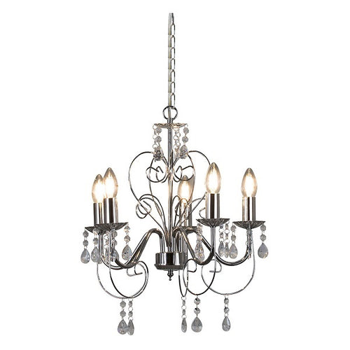 Cleo 5 Arm Chandelier - Lighting.co.za