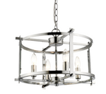Bow Chrome And Clear Plain Glass Shade Pendant Light - Lighting.co.za