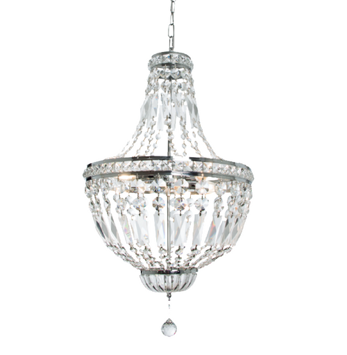 Grand Waterfall Chrome And Crystal Glass Chandelier - Lighting.co.za