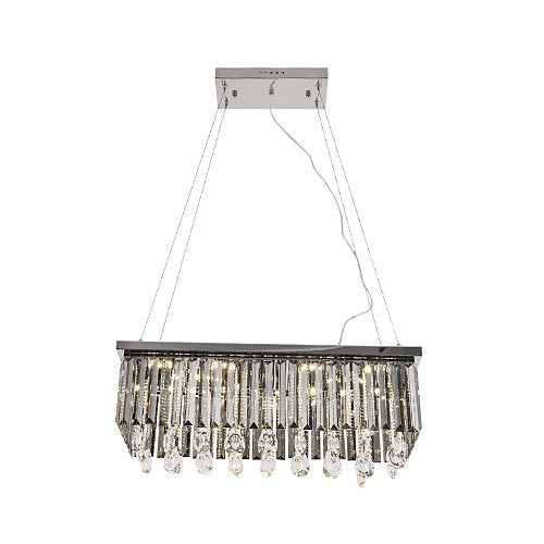Cirrus LED Rectangle Clear K9 Crystal Chandelier - Lighting.co.za