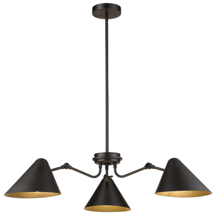 PHIA 3 LIGHT BLACK PENDANT - Lighting.co.za