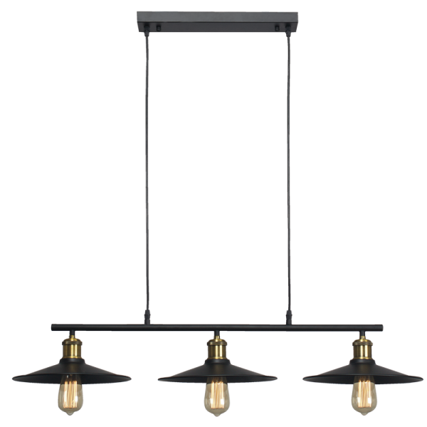 Hinkley Barn Black And Brass 3 Light Bar Pendant Light - Lighting.co.za