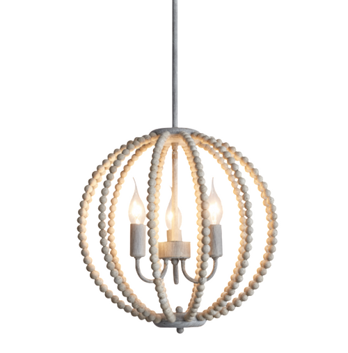 Mika Orb Wooden Bead Chandelier - Lighting.co.za