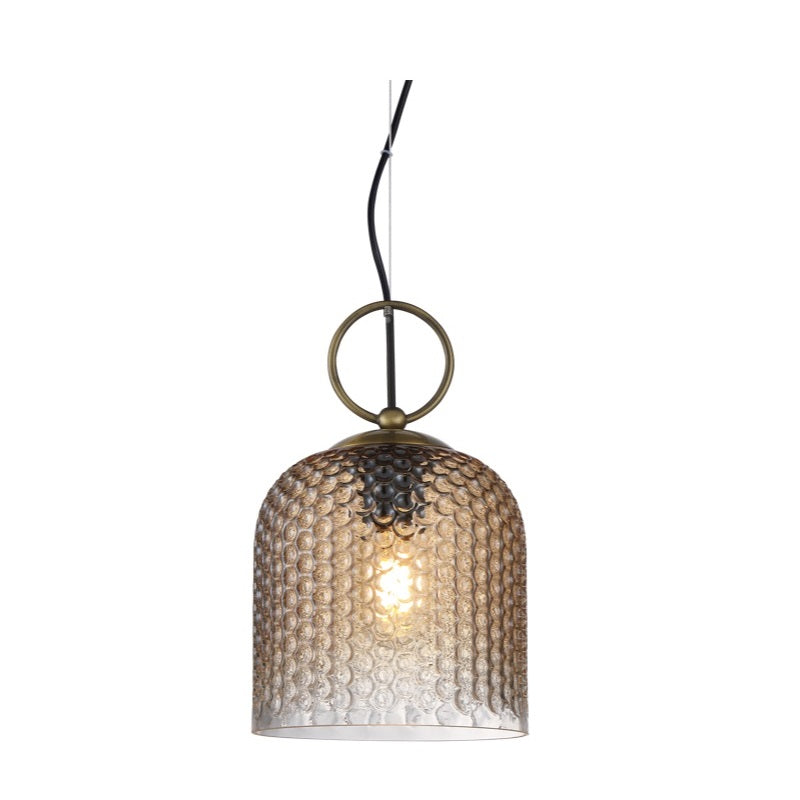 Chestnut Clear | Amber | Smoke Textured Glass Pendant Light - Lighting.co.za