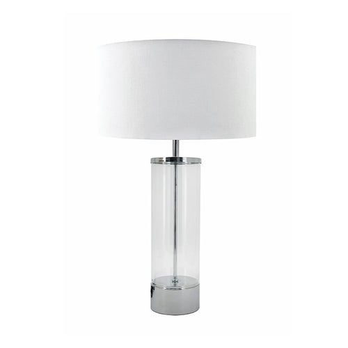Paloma Clear Glass and Chrome Table Lamp - Lighting.co.za