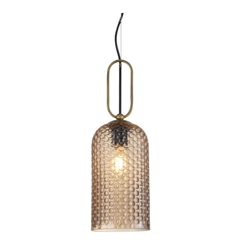 Cypress Clear | Amber | Smoke Textured Glass Pendant Light - Lighting.co.za