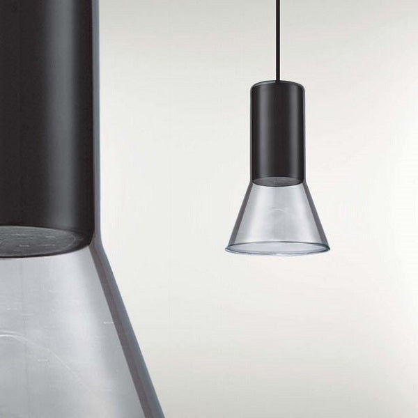 Cone Black and Smoke Glass Pendant Light - Lighting.co.za