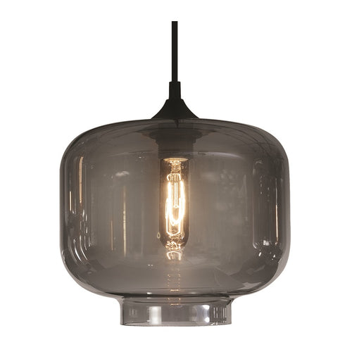 Elza Lighthouse Smoke Grey Glass Pendant Light - Lighting.co.za