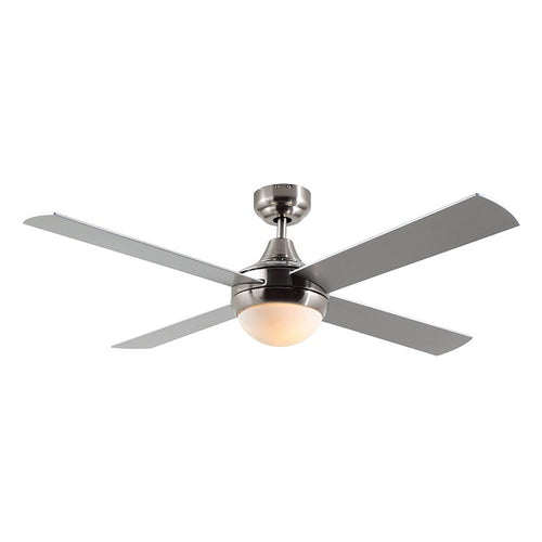 Twister 4 Blade Satin Chrome Ceiling Fan - Lighting.co.za