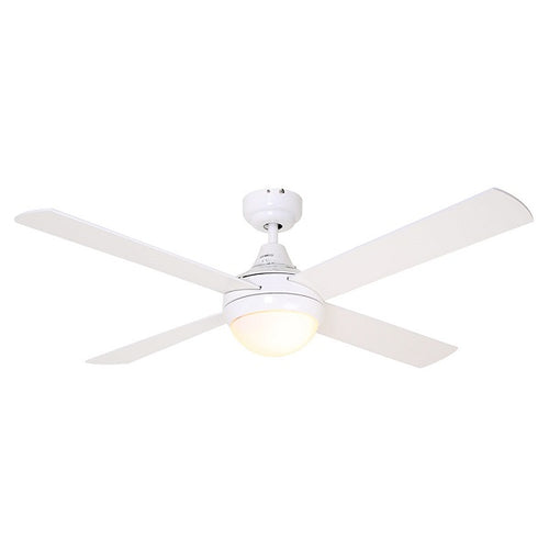 Twister 4 Blade White Ceiling Fan - Lighting.co.za