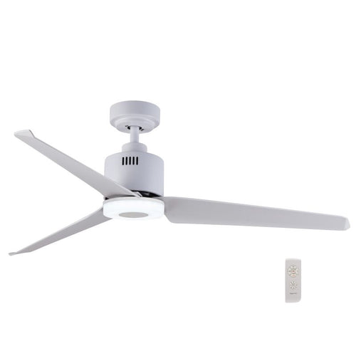 Astrid 3 Blade White LED Ceiling Fan - Lighting.co.za