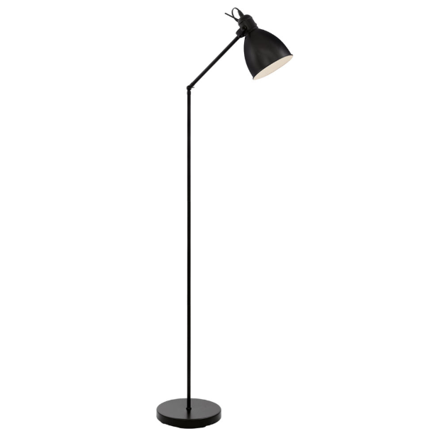 PRIDDY BLACK STEEL ADJUSTABLE FLOOR LAMP - Lighting.co.za