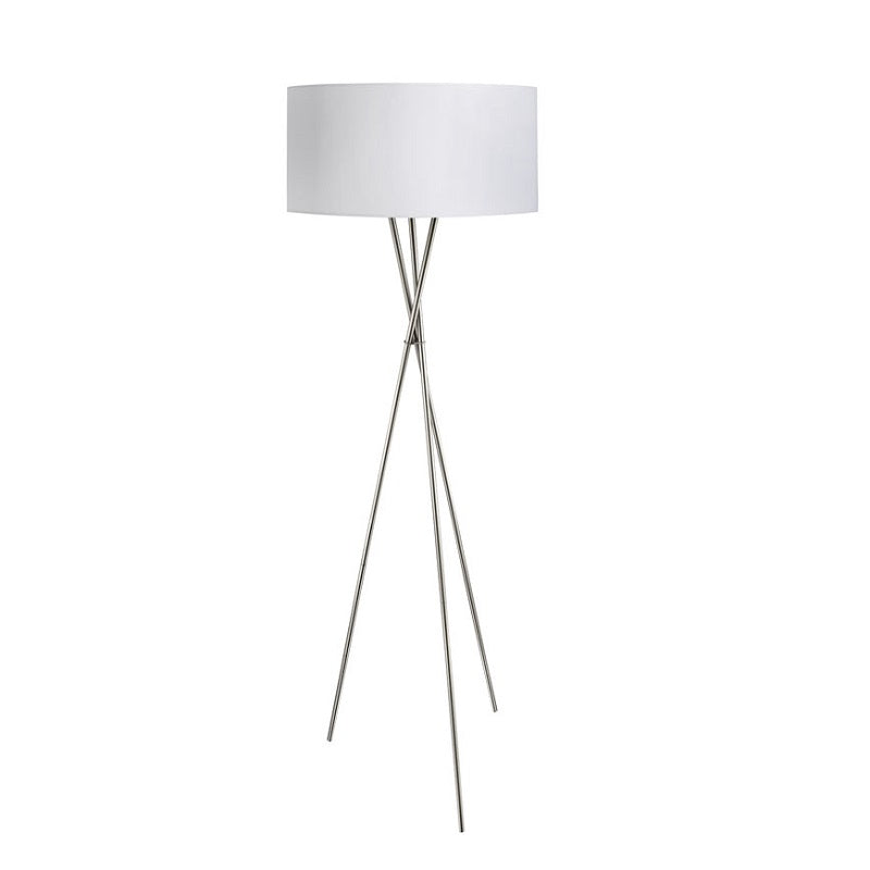Fondachelli Chrome Tripod And White Shade Floor Lamp - Lighting.co.za