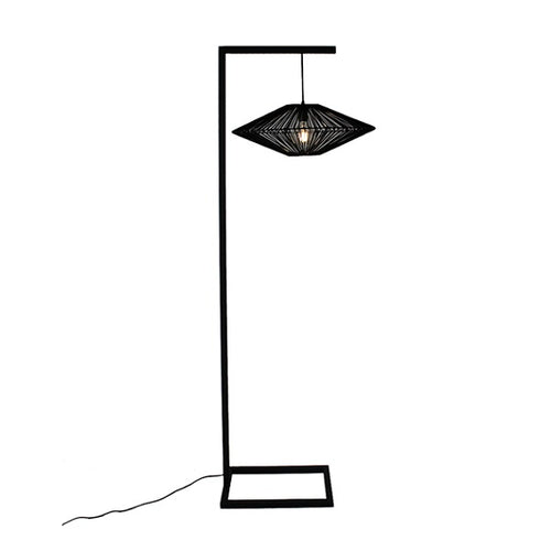 ROPE ECLIPSE BLACK FLOOR LAMP - Lighting.co.za