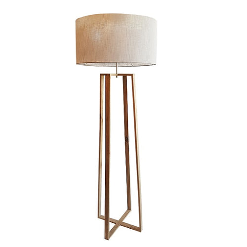 OASIS OAK WOOD GEO FLOOR LAMP SET - Lighting.co.za