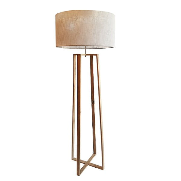 OASIS OAK WOOD GEO FLOOR LAMP SET