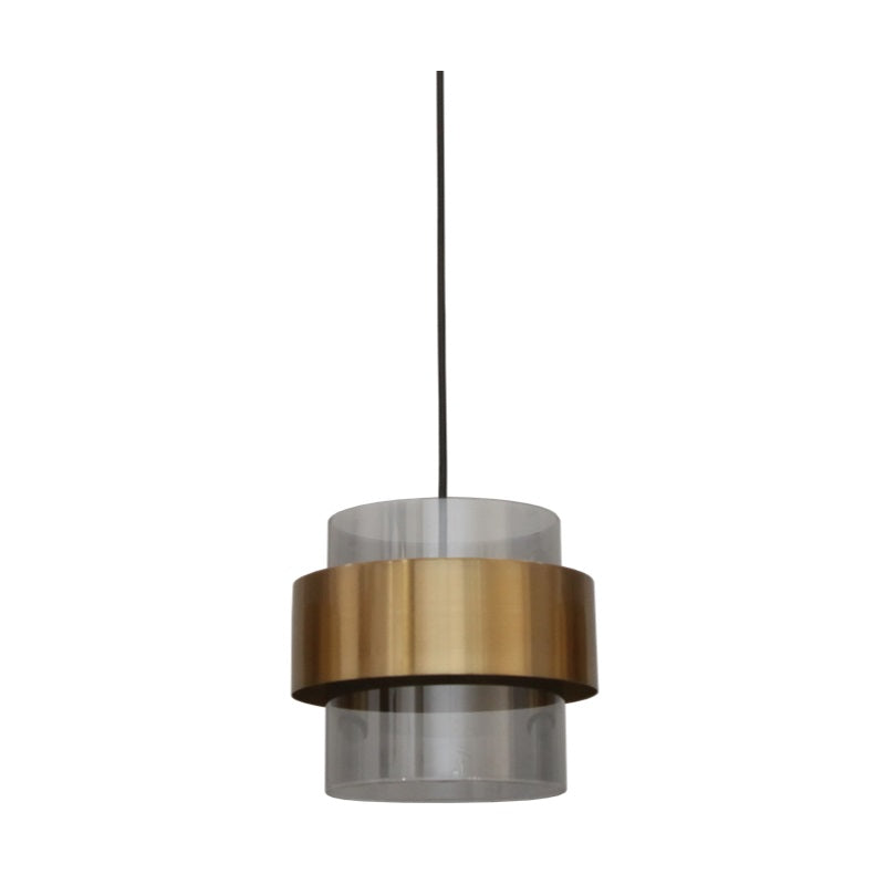 Forma Antique Brass and Glass Single Pendant Light - Lighting.co.za