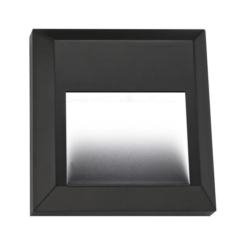 Delta Black Or White Square ABS Polycarbonate 1 Watt LED Step Light - Lighting.co.za