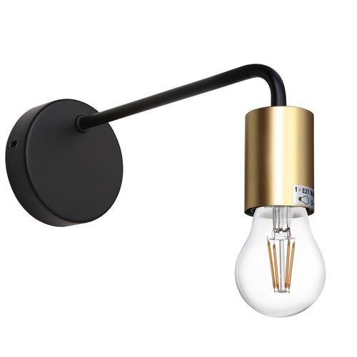 Traverse Black Gold Wall Light - Lighting.co.za