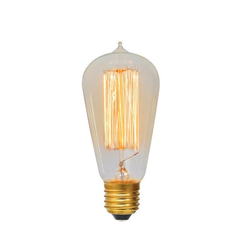 E27 ST64 Carbon Filament Clear|Amber|Smoke Bulb Dim E - Lighting.co.za