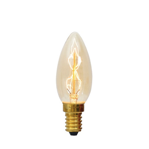 E14 Candle Carbon Filament Clear|Amber|Smoke Bulb Dim E - Lighting.co.za