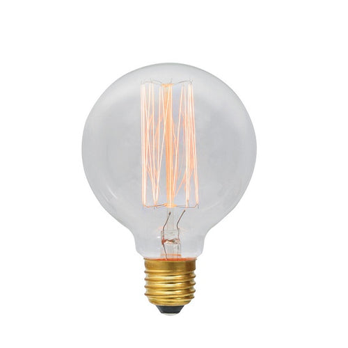 E27 G95 Carbon Fil Clear|Amber|Smoke Bulb Dim E - Lighting.co.za
