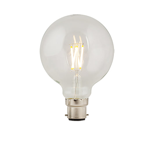B22 LED Filament G95 4W 3000K Clear Non Dim E - Lighting.co.za