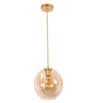 Amador Classic Branch Smoke or Amber Glass 1 Light Pendant Light Available in 2 Sizes - Lighting.co.za