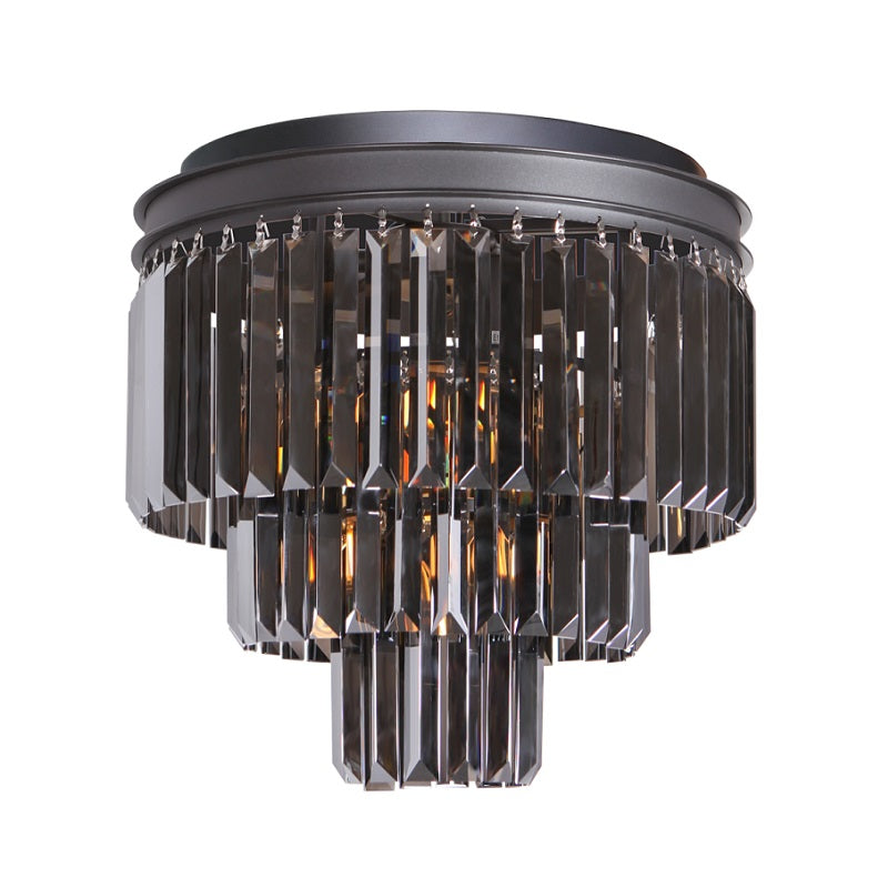 Grace Small Black Or Gold K9 Crystal 3 Tier Ceiling Light - Lighting.co.za