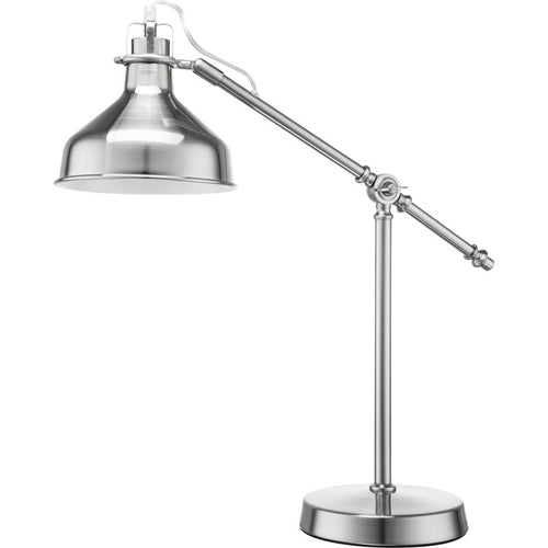 Empire White Or Satin Chrome Adjustable Desk Lamp - Lighting.co.za