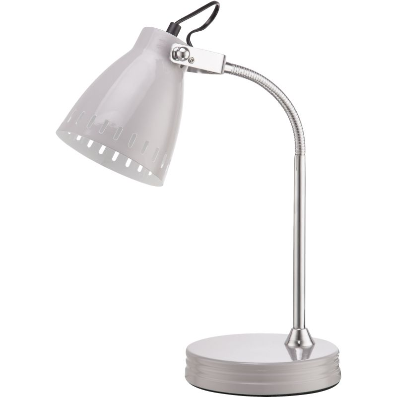 Mardi Brass | Chrome | Grey Adjustable Desk Lamp - Lighting.co.za