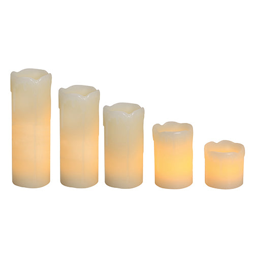 LED Candle Flameless Dripping Effect 2 Options - Lighting.co.za