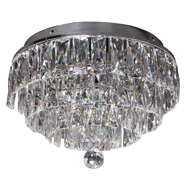 Tulip Chrome And Clear K9 Crystal Ceiling Light - Lighting.co.za