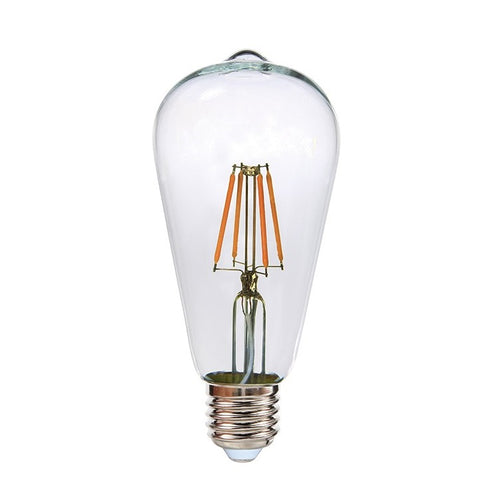 E27 ST64 Clear Birdcage LED Fil Clear Bulb 4W 2700K Dim K - Lighting.co.za