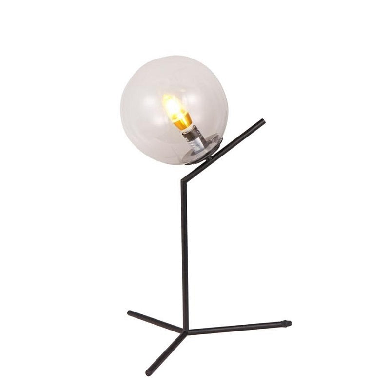 Hampton Black and Clear Glass Table Lamp - Lighting.co.za
