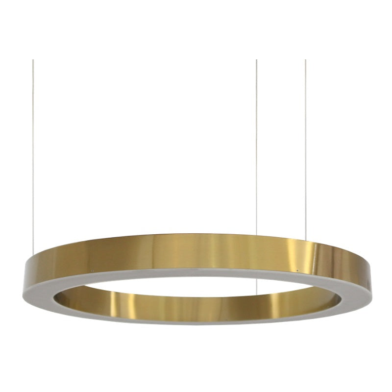 Hoop Brushed Brass LED Ring Pendant Light 3 Sizes