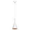 Coptic Nordic White and Gold Funnel Pendant Light - Lighting.co.za