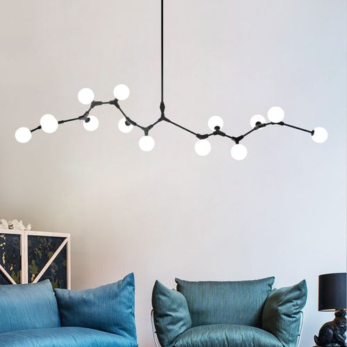 Blossom Black And White Frosted Glass Pendant Light - Lighting.co.za